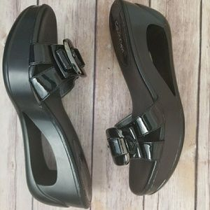 Calvin Klein Sandals Open Wedge Black